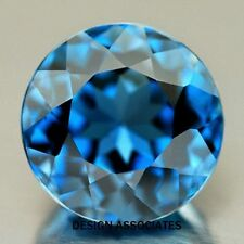 NATURAL LONDON BLUE TOPAZ 9 MM ROUND CUT VVS