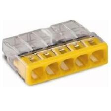 WAGO Verbindungsdosenklemme 5x 0.5-2.5 gelb 2273-205  100 Stück in OVP  Neu