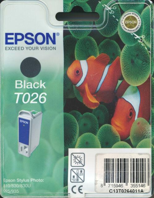 Epson T026 Genuine Black Cartridge. BNIB / Sealed.