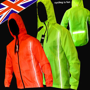 CYCLING-JACKET-HIGHLY-VISIBLE-HI-VIZ-HOODED-WINDPROO-WATERPROOF-RIDING-CYCLING