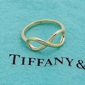 24feb6c00 Tiffany & Co. Infinity Band 18k AU750 Yellow Gold Ring Size 5.5 | eBay