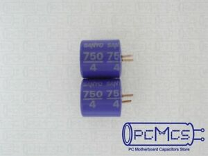 4 pcs of 6.3V 1000uF Japan NCC OS-CON Aluminum solid Capacitor