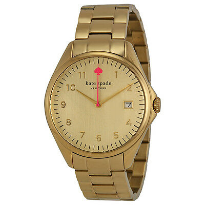 Kate Spade New York Seaport Grand Champagne Dial Gold-tone Ladies Watch 1YRU0030