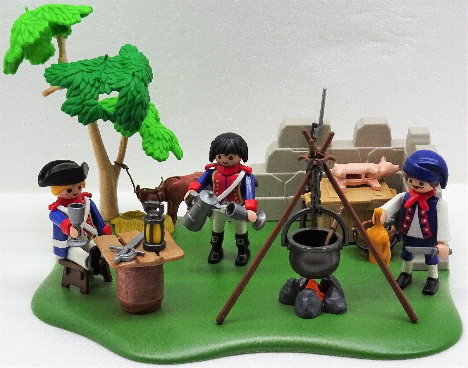FRANZOSEN FELDLAGER Playmobil zu Garde vs. Rotröcke Soldat Napoleonic 1er Empire