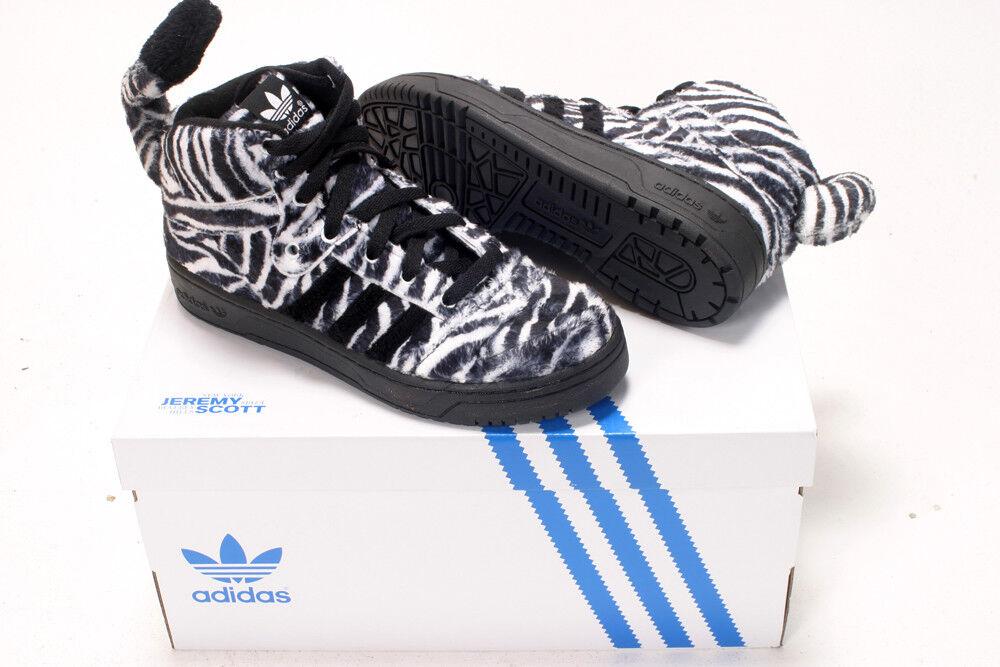 ADIDAS by Jeremy Scott JS scarpe da ginnastica ZEBRA NERO BIANCO NUOVE SCARPE DA GINNASTICA 6.5EU