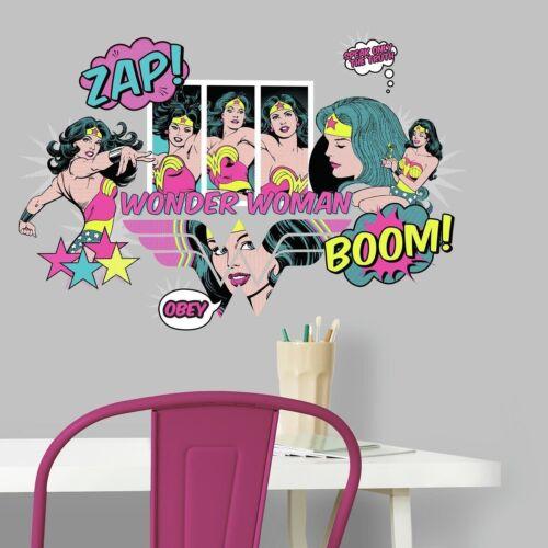 WONDER WOMAN POP ART Wall Decals ZAP BOOM Movie Room Decor Stickers CLASSIC New