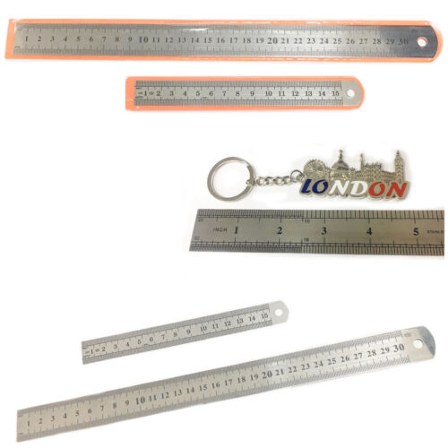 "Metal Ruler Scale S6/""//12/"" Measurement Tool Office School Math Sketch Outline New"