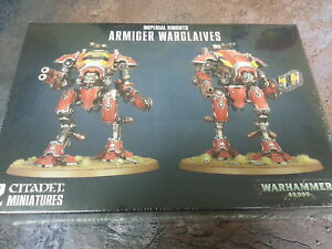 WARHAMMER 40K IMPERIAL KNIGHTS ARMIGER WARGLAIVES - NEW AND SEALED