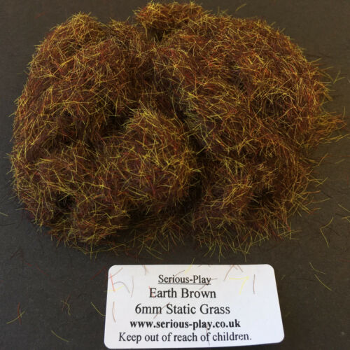 Model Scenery Warhammer Wargame Mud Serious-Play Earth Brown Static Grass 6mm
