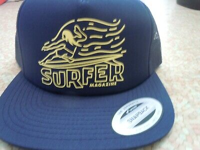 Unisex Trucker Hat-Surfs up Surfboard California surfline Design Adjustable Snapback Sport Cap