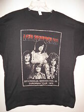 NEW - LED ZEPPELIN SWEDEN TOUR BAND / CONCERT / MUSIC T-SHIRT LARGE