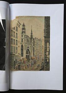 Rue-De-Paris-Belebt-Aquarell-Zeit-Napoleon-Bonaparte-1ere-Haelfte-19e-Jhd