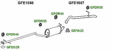 FORD TRANSIT CONNECT 1.8 TDDi TDCi SWB 06-09 EXHAUST CENTRE MIDDLE SILENCER