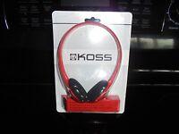Koss Kph7r Ultra Light On Ear Adjustable Headband Stereo Headphones Red