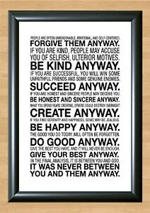 Mother-Teresa-Love-Them-Anyway-Quote-PHOTO-Print-POSTER-Motivational-A4-297x210