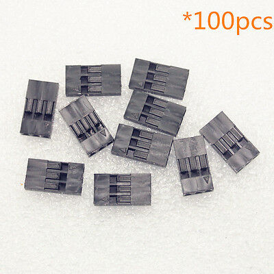 100pcs 2.54mm 3P Pitch Dupont Jumper Wire Housing Female Pin Connector Socket