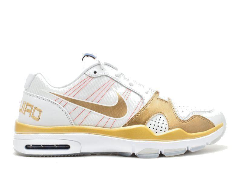 Nike trainer basso mp premio 13 manny pacman pacquiao, oro bianco 445235-171