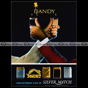 BRIQUETS-a-GAZ-SILVER-MATCH-039-Dandy-039-1966-Pub-Publicite-Original-Advert-Ad-A756