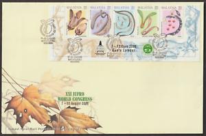 F261Y-MALAYSIA-2000-FOREST-SOCIETY-CORNER-STRIP-ON-YELLOW-FDC