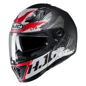 NEU-HJC-Helm-I70-Rias-schwarz-rot-weiss-Gr-M-57-58-Motorradhelm-Sonnenblende