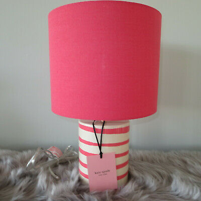 Kate Spade New York Black White Zebra Stripe Table Lamp Signed RETAIL $300