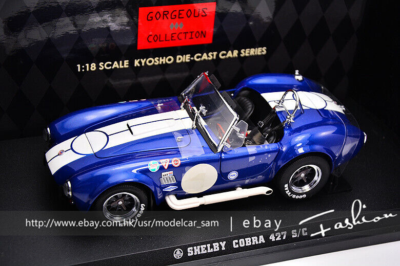 Kyosho 1 18 Ford Shelby Cobra 427 S C bluee