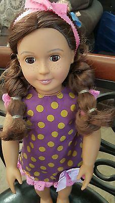 our generation 18 inch fashion doll freckles braids