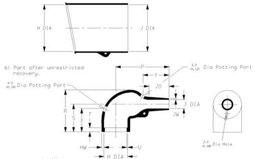 222K163-25-0 Raychem//TE Molded Heat Shrink Boot Motorsport Wiring Haltech MoTeC