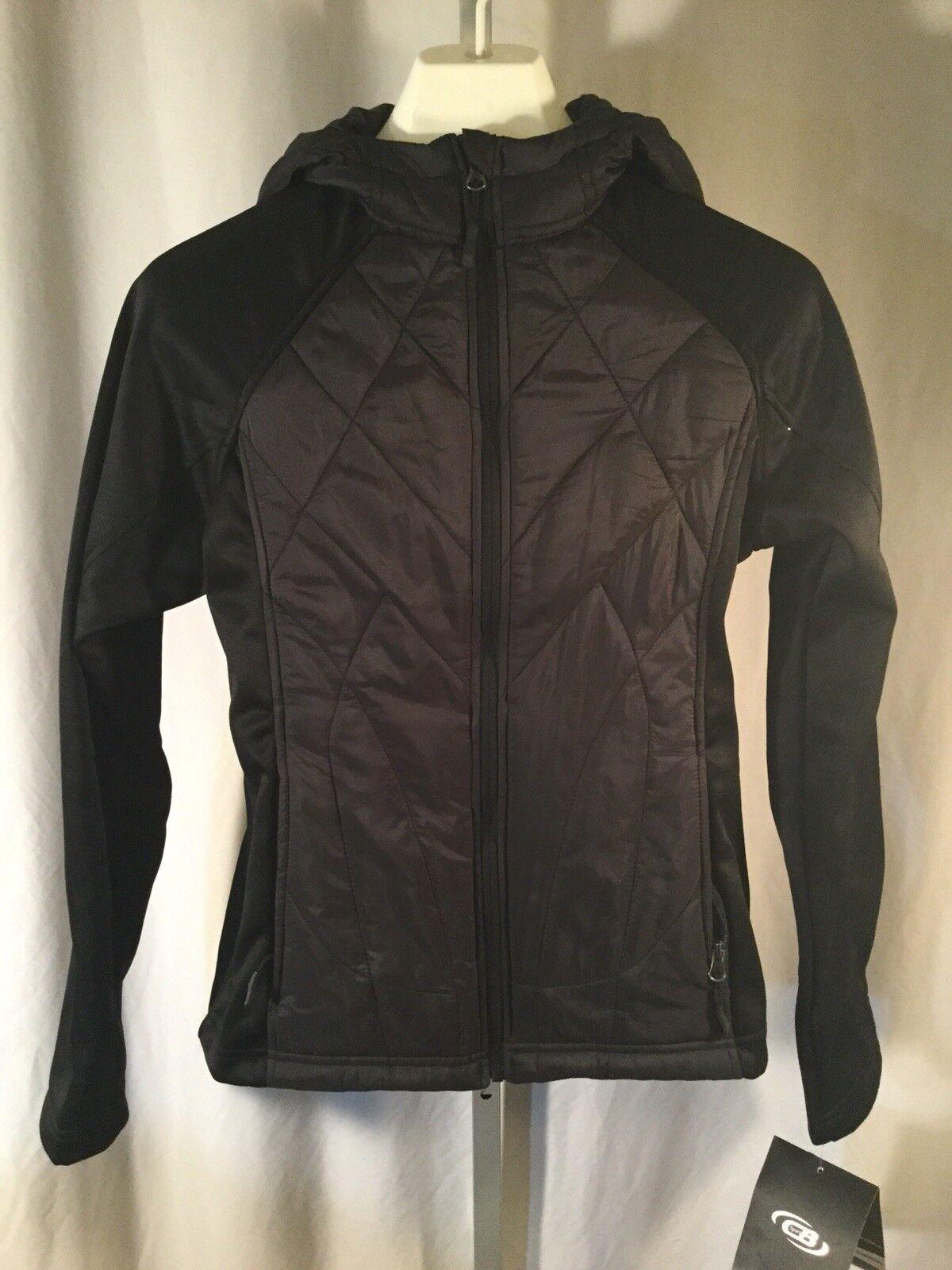 NOUVEAU BLOUSON Performance Sports Black Jacket MED pour femmes Exercice Coupe-vent 125 $