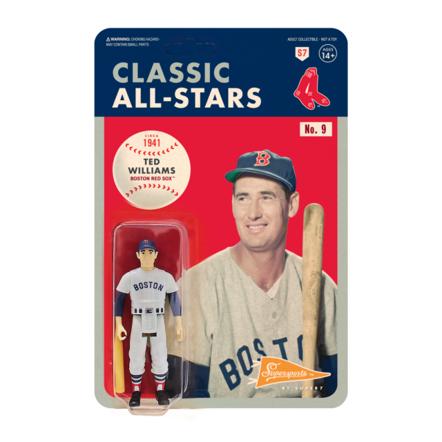 "2019 Super7 ReAction Classic All-Stars MLB Baseball CARLTON FISK 4/"" Figure MOC"