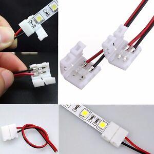 2 pin kabel led strip verbinder steckverbinder schnellverbinder mit einer klemme ebay. Black Bedroom Furniture Sets. Home Design Ideas