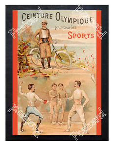 Historic-Olympic-Games-in-Paris-1900-Advertising-Postcard