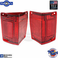 70-72 El Camino / Wagon Tail Light Lamp Lens Usa - Pair