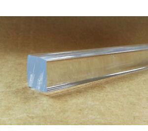 1-Pcs-Square-Clear-Acrylic-Rod-Solid-Perspex-Bar-Model-Craft-Length-30cm-B5K