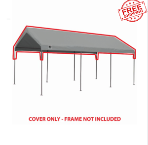 New King Canopy Carport, Garage Roof Top Replacement Cover ...