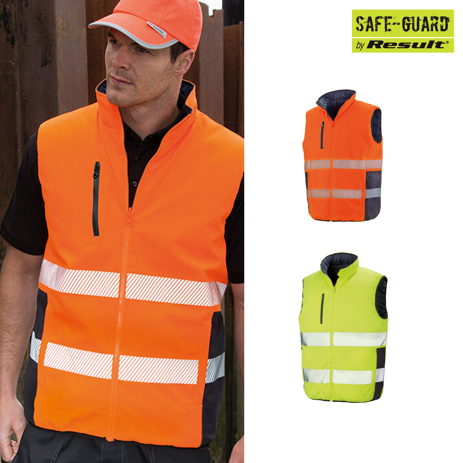 Result Safeguard Reversible Soft Padded Gilet R332X