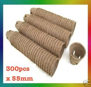 55mm-Jiffy-Round-Pots-x-300pcs-Propagation-Seedling-Herbs-Veggie-PC
