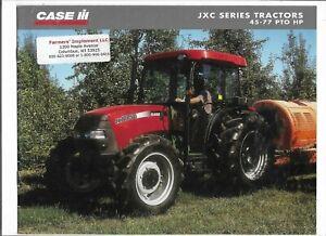 Case International JXC Series Tractors Sales Brochure