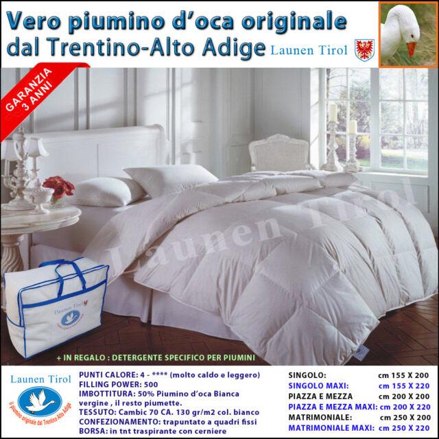 Piumone Oca Matrimoniale.Daunenstep Piumino D Oca Matrimoniale 250x200 Cm D200 Classic