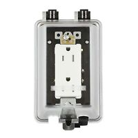 Exterior In-use Weatherproof Cover W/15a Outlet Outdoor Cover For Gfci Outlet