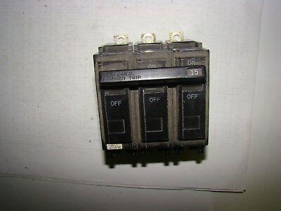 General Electric HACR Circuit Breaker 50A Used 3-Pole CU-AL