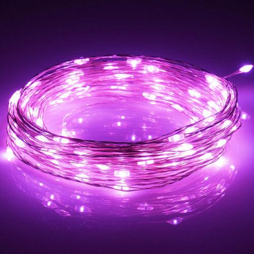 LED Lichterkette Batterie 10//20//40//100 Micro Draht Außenbereich Innen warmweiß