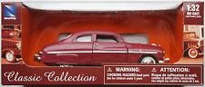 Newray -'49/1949 ford mercury burdeos 1:32/pista 1 nuevo/en el embalaje original maqueta de coche