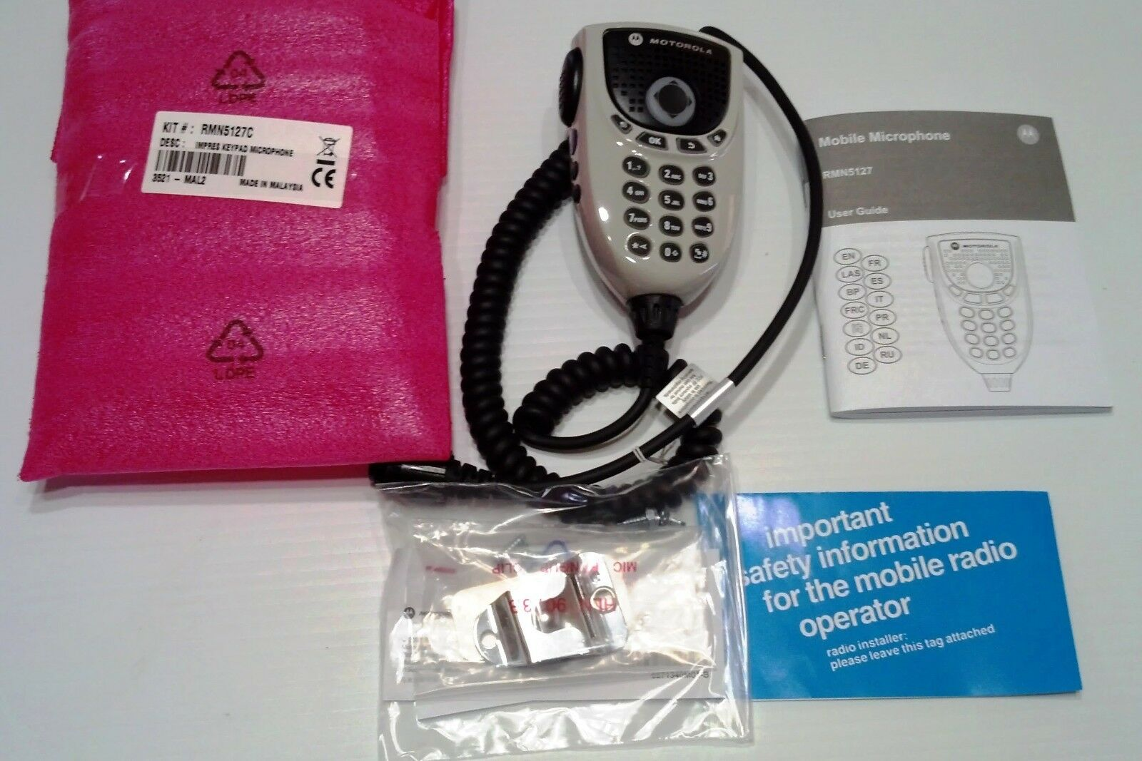 Motorola MotoTRBO IMPRES Audio 4-Way Navigation DTMF Keypad Microphone RMN5127. Buy it now for 124.95