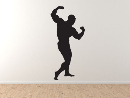 Sport Silhouette - Body Building Muscle Mass Version 1 - Vinyl Wall Decal