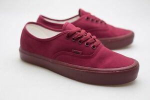 e61646c61b5 Image is loading Vans-Men-Authentic-Lite-Mono-burgundy-cordovan-VN0Z5JLQI