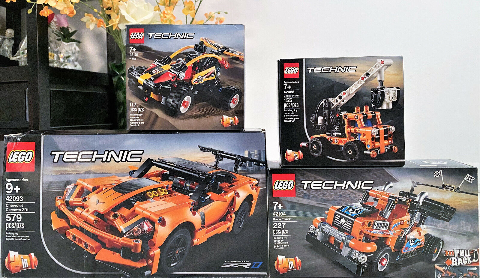 Lego Technic Race Truck Two Sets Combined Into One 42026 And 42027