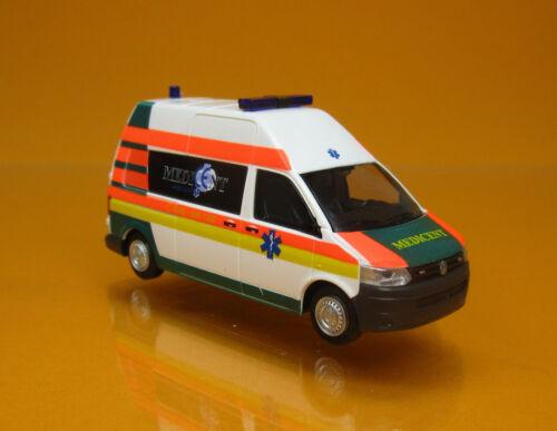 Rietze 53624 Volkswagen T5 GP Bus HD Medicent Rettung Rotenburg Scale 1 87 NEU O