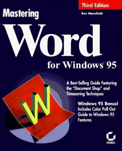 """""""Word for Windows 95"""" by R.Mansfield, Brand New with Remainder Mark, Perfect"""