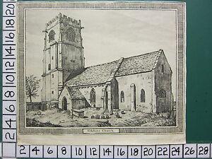 C1790 Antik Aufdruck ~ Elkstone Kirche Gloucestershire